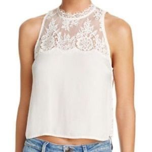 Free People Natural Lace Cropped Top.